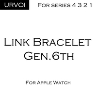 URVOI band for apple watch link bracelet series 4 3 2 1 strap for iWatch high quality stainless steel adjustable band gen.6th