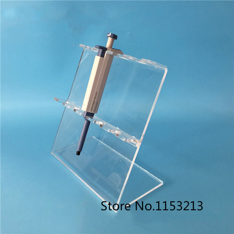 Plexiglass Pipette rack Transparent pipettor stander, Z-shaped PMMA frame can put 5pcs of single-pipettor, thickness is 5mm