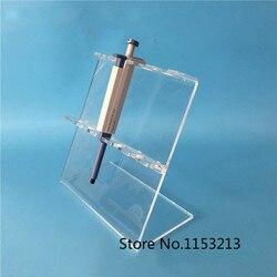 Soporte de pipeta de plexiglás transparente, el marco de PMMA en forma de Z puede poner 5 piezas de una pipeta, el grosor es de 5mm