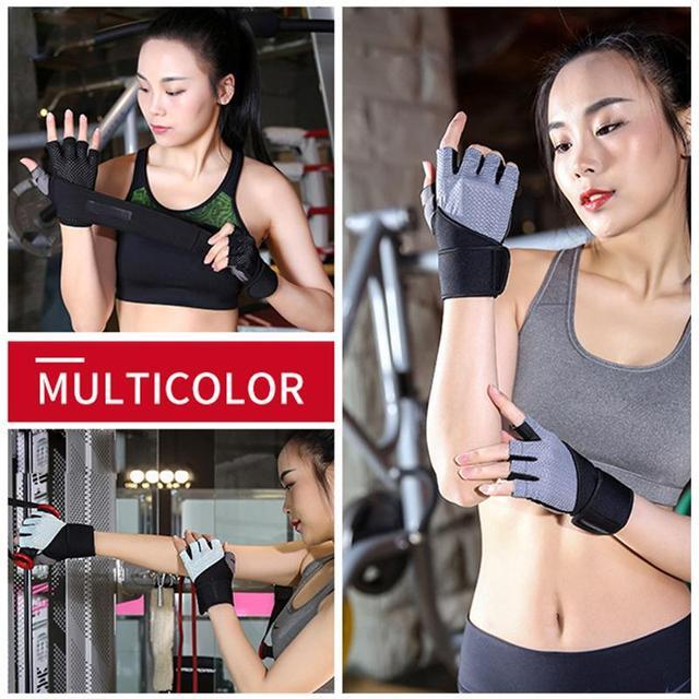 New Women/Men Training Gym Gloves Body Building Sport Fitness Gloves Exercise Weight Lifting Gloves Men Gloves Women