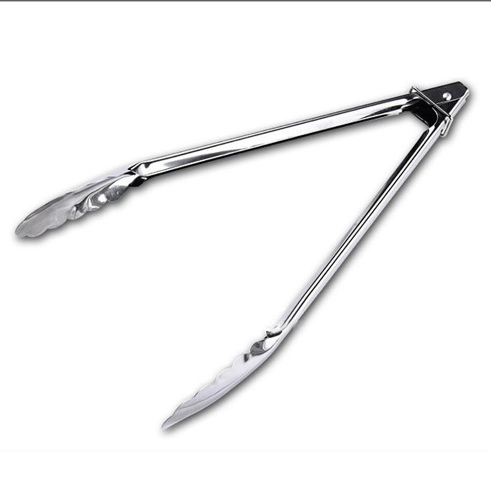 Tireless Lumiparty Stainless Steel Kitchen Clamp Food Clip Cooking Tongs For Salad Frying Bbq-25 Fine Workmanship Tongs