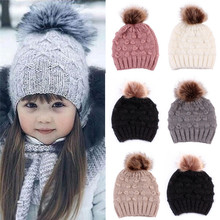 купить Toddler Kids Girl&Boy Baby Infant Winter Warm Crochet Knit Hat Beanie Cap онлайн