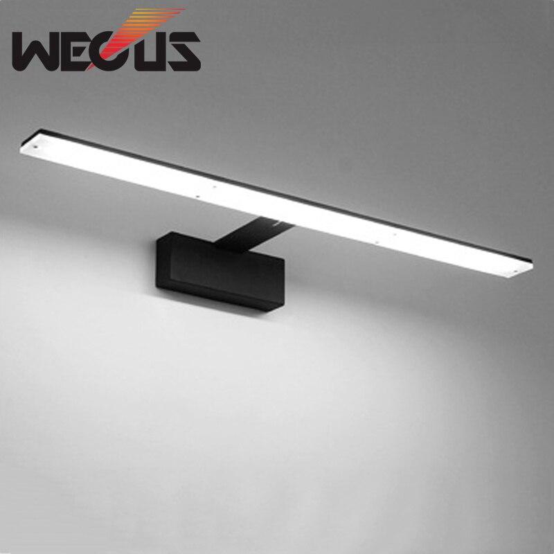 Nordic Led Bathroom Lamp Black/white Mirror Light Acrylic Metal Fixtures Barbershop Hotel Toilet Cabinet Wall Lamp 42cm  9W