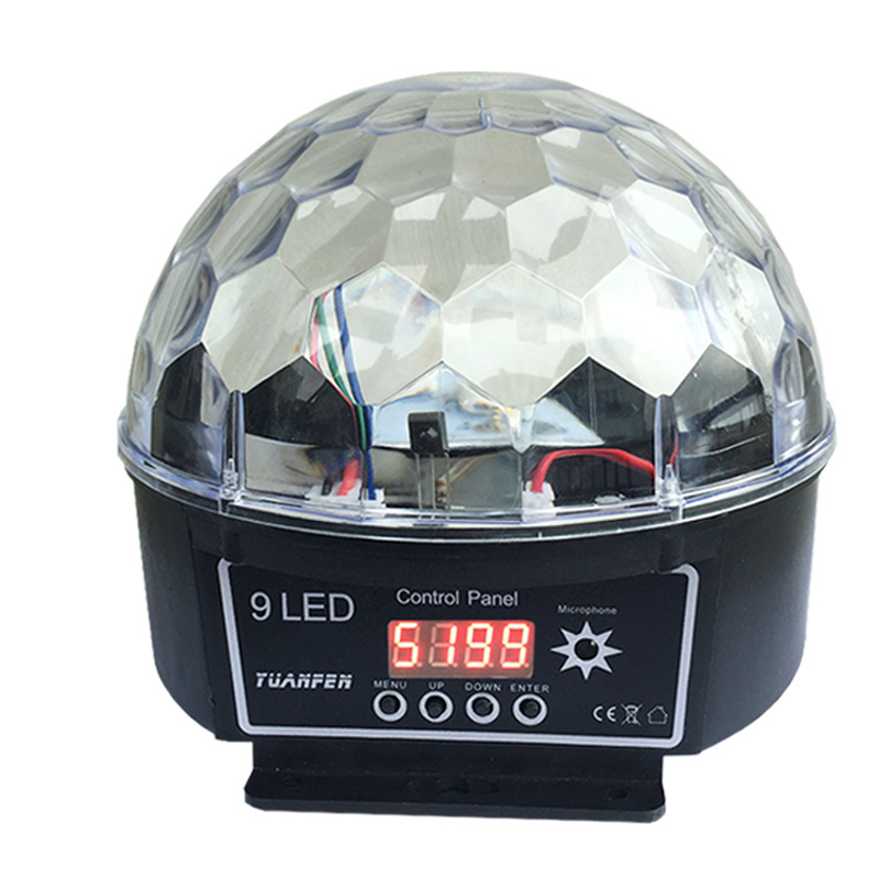 Led Stage Lamp Crystal Magic Ball 7 Sound Control Modes 9 Colors Stage Lighting Disco Laser Light Party Lights Lumiere Laser niugul crystal magic ball led stage lamp 8 modes disco laser light sound auto control christmas laser projector ktv party lights