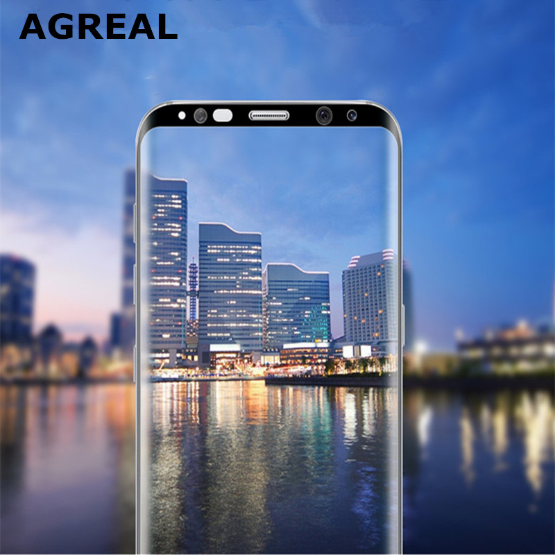 For Samsung Galaxy S8 Tempered Glass 3D Curved 0.2MM Full Cover Screen Protector Film For Samsung Galaxy S8 Plus G955 (S8 Edge) 4
