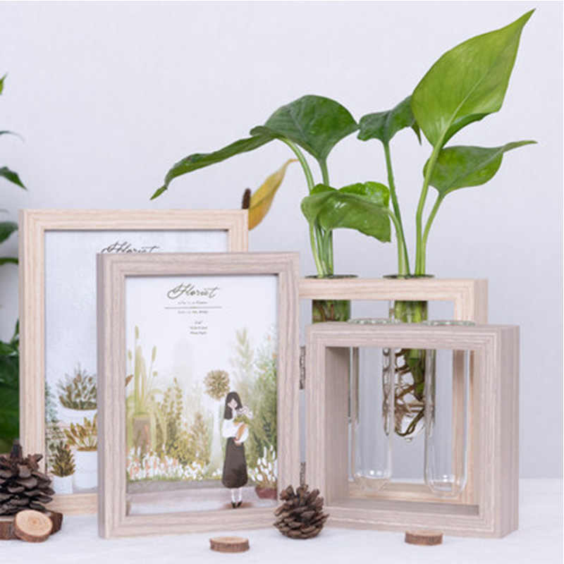 Nordic Family Stereo Folding Photo Frame Table 4/ 5/ 6/ 7 Inch Fresh Ins Picture Frame Conjoined Combination Frame Desktop Decor