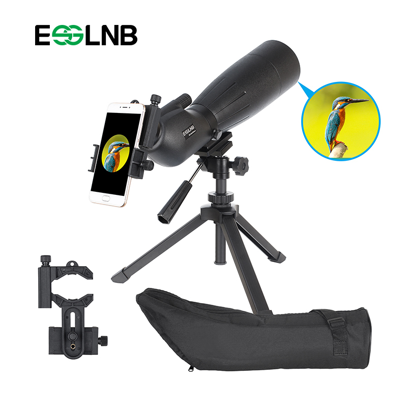 20-60x80 Waterproof Angled Spotting Scope With Adjustable Tripod& Phone Adapter Monocular Telescope For Target Shooting Hunting waterproof spotting scope 20 60x60 for birdwatching long range target shooting spotting scope with tripod phone adapter