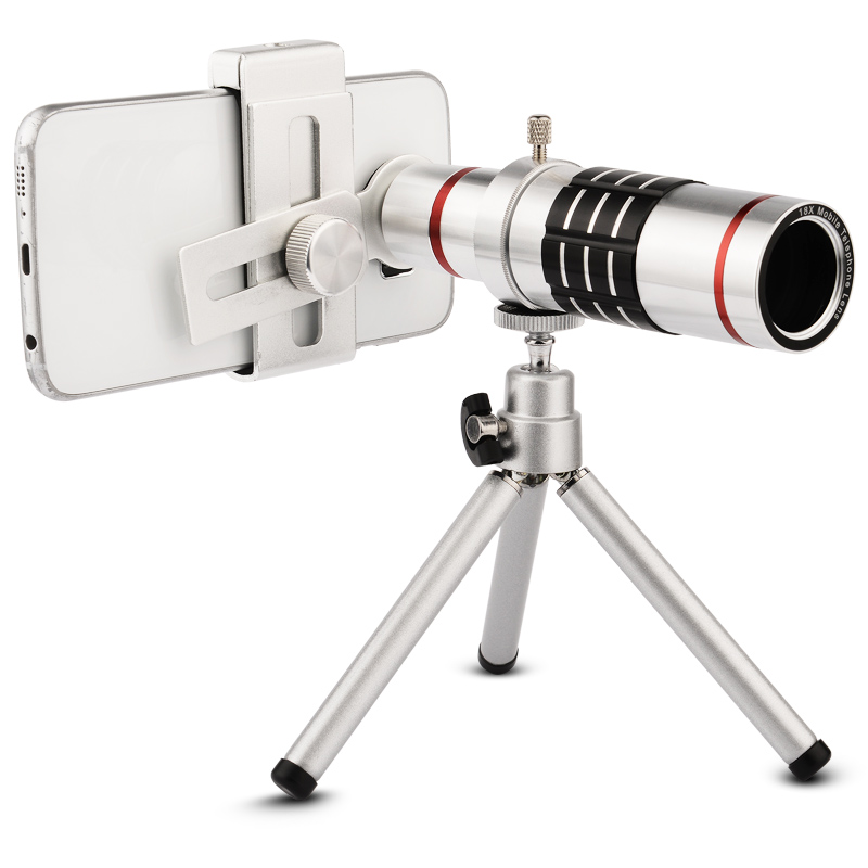 7b23c18c54a0de GOESTIME Mobile Phone Lens Universal 18x Universal Optical Telescope Mobile  Camera Lens 18X Lens with tripod For iPhone Samsung-in Mobile Phone Lenses  from ...