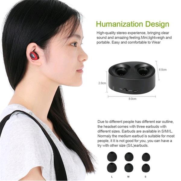 Portable Wireless Bluetooth Mini Earphone In Ear Stereo Bluetooth