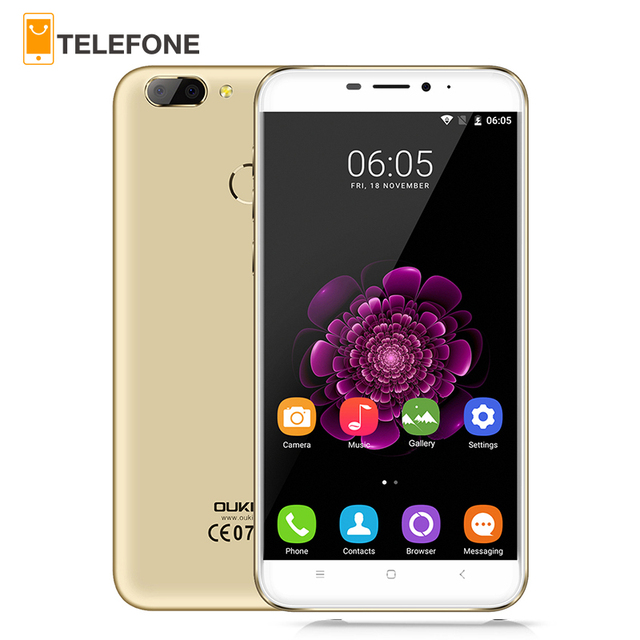 "Oukitel U20 Plus Android 6.0 4G Mobile phone 5.5"" IPS FHD MTK6737T Quad Core 13MP Dual Lens Back Camera 2GB + 16GB Smartphone"