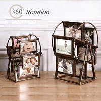 Ferris Wheel Decorative Multi Photo Frame Vintage Picture Frames 5 Inch / 4 Inch Plastic Frames For Pictures