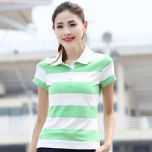 Women Shirts Polos Cotton Big Striped Fitting Weight 40-88KG Breathable Eco-Friendly Drop Shipping