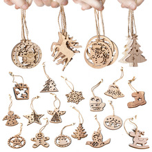 Multi Style Creative Wooden Christmas Tree Hanging Ornaments Pendants kids Gifts Santa Claus Elk Decor New Year 2020