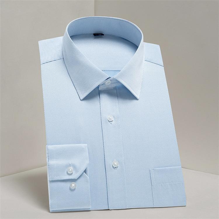 HTB1QLw4B9tYBeNjSspkq6zU8VXaA - 2019 Men Dress Shirt Long Sleeve Slim Brand Man Shirts