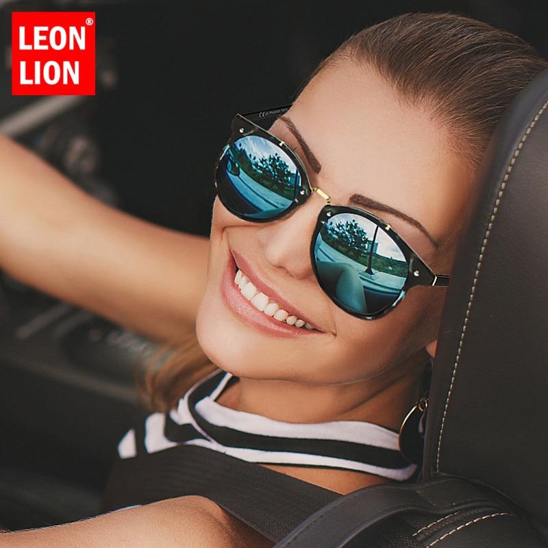 LeonLion 2019 Fashion Vintage Alloy Sunglasses Women Classic Retro Glasses Street Beat Shopping Mirror Oculos De Sol Gafas UV400