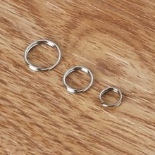 Iron Double Loops Open Jump Rings 6mm(800pcs) 8mm(400pcs) 10mm(300pcs) Dia. Jewelry Findings rhodium Color for DIY Fashion(China)