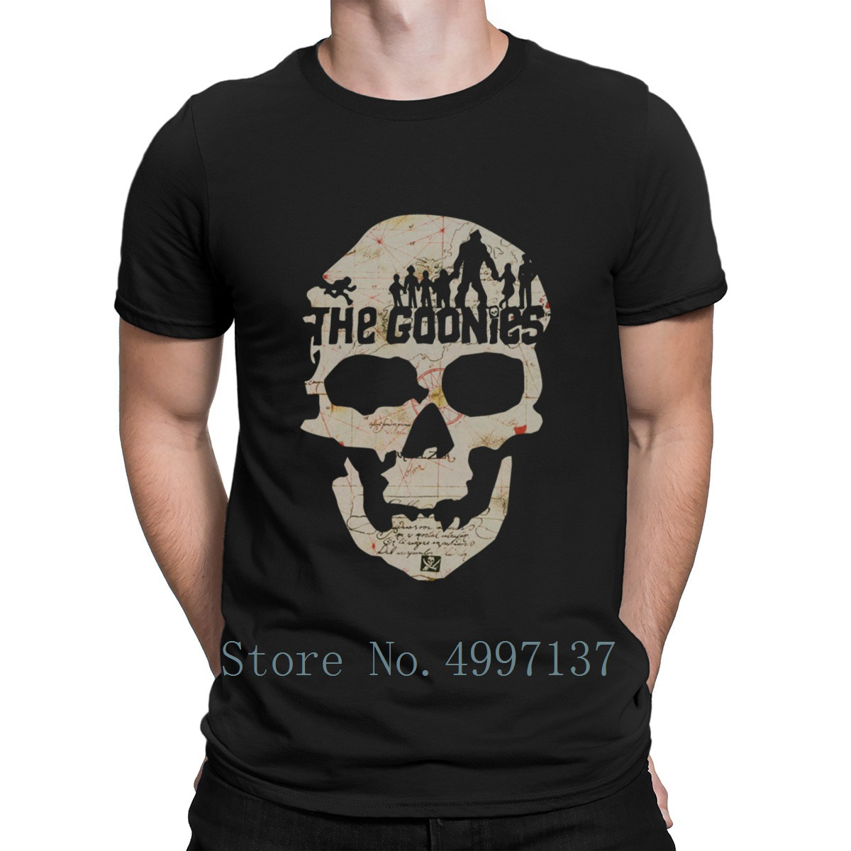 Skull The Goonies T Shirt Tee Shirt Comical Plus Size 3xl Print Famous Summer Style Cool Normal Funny T-Shirt