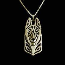 Золотой и Серебряный 1 шт. бельгийское ожерелье малинуа 3D вырезанный изящный щенок кулон любовные памятные ожерелья s подвески Рождественский подарок