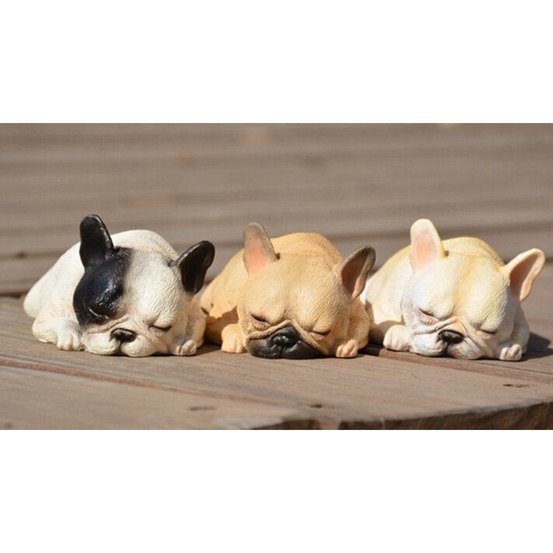 Super lovely sleeping Resin French bulldog figure toy,artificial crafts model toys,big gift fan bull dog,doggy puppy emulational