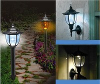 2015 New, Oudoor 4 LED Solar wall light lamp 100 % solar power Palace design solar garden light