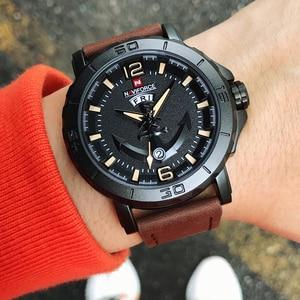 Image 2 - NAVIFORCE erkekler moda İş kuvars saatı yaratıcı spor saatler erkekler lüks marka İzle saat erkek Relogio Masculino