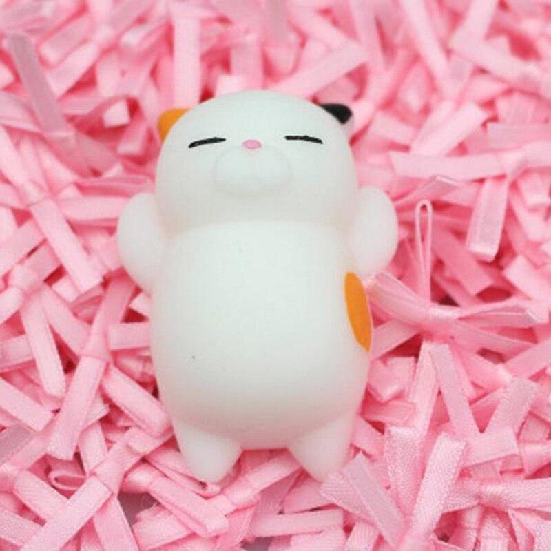 Забавный подарок милые антистрессовые мягкие игрушки милый мягкий силиконовый сжимающий руку детская игрушка Kawaii хлюпает животных Медведь Кролик WY30 - Цвет: WJ0305-NNL