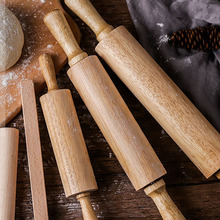 High Quality DIY Biscuit Rubber Wood Rolling Pin Home Daily Use Creative Kitchen Supplies  Gadget Healthy Baking Tools