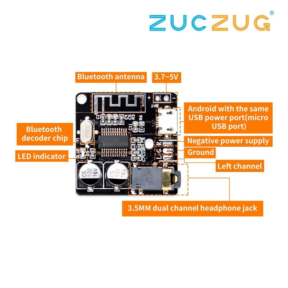 VHM-314 Bluetooth Audio Receiver Board Bluetooth 5.0 Mp3 Lossless Decoder Board Wireless Stereo Music Module