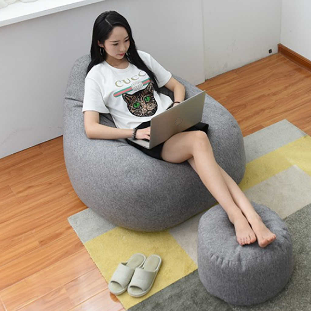 Fabulous Magideal 10 Colors Modern Design Lazy Bean Bag Cover Sofa Slipcover Linen Bean Bag Chair Home Sofa Seat Sack For Living Room Pabps2019 Chair Design Images Pabps2019Com