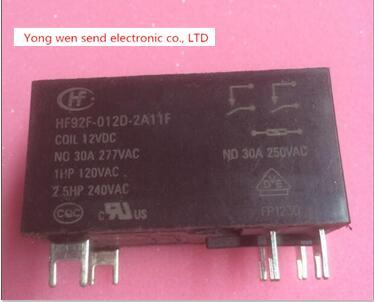NEW relay HF92F-012D-2A11F HF92F-012D-2A11F-12VDC HF92F012D2A11F-12VDC HF92F-012D HF92F-2A11F 12VDC DC12V 12V  DIP 2pcs/lot реле omron 2 h1 dc12v gen dpdt 1a 12v h1 12vdc 8pin 10pcs lot g5v 2 h1 12vdc