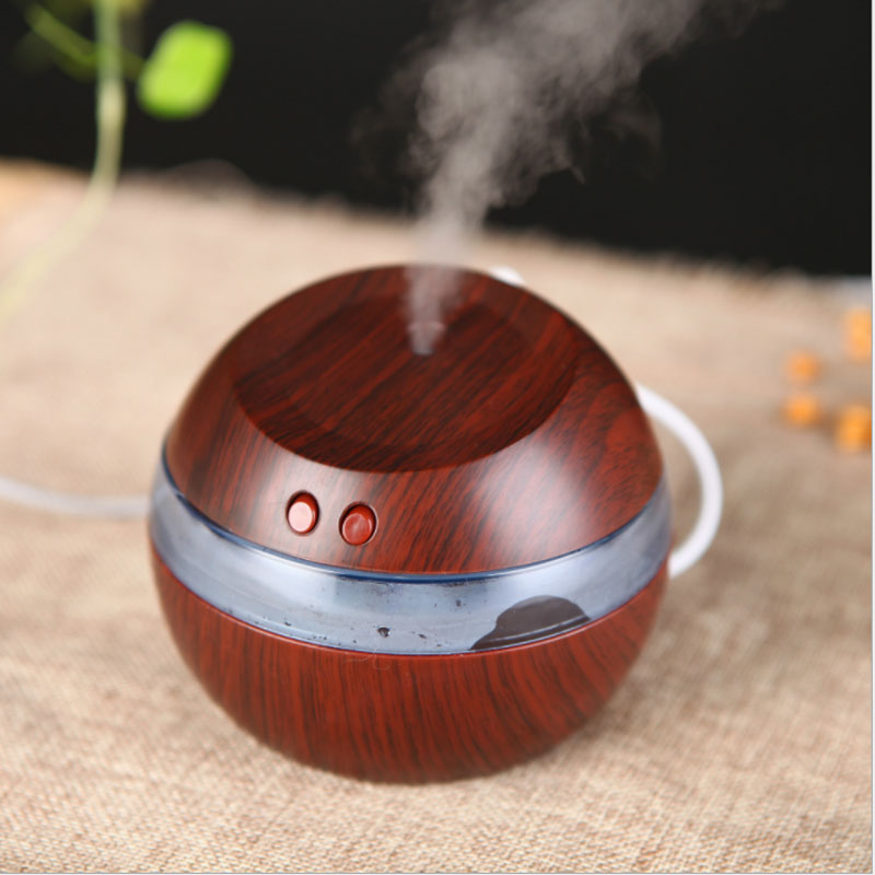 USB Ultrasonic Humidifier, 300ml Aroma Diffuser Essential Oil Diffuser Aromatherapy Mist Maker With Blue LED Light