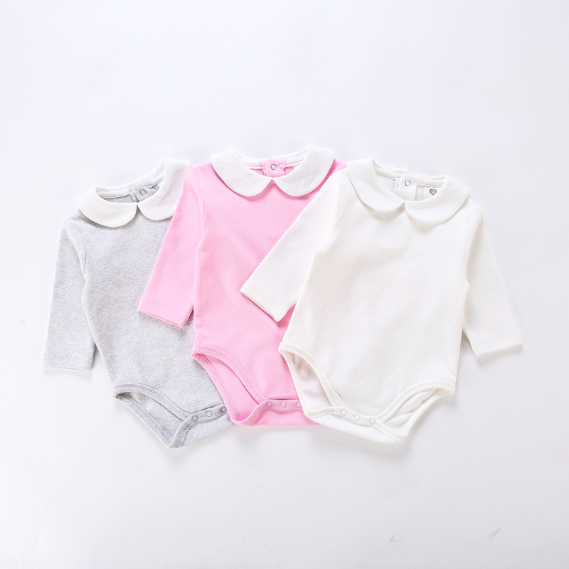 Baby Clothes Long Sleeves Baby Bodysuit Children Girls Clothes Cute Baby Jumpsuit Kids Overalls Peter Pan Collar Baby Overalls