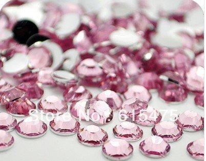 5mm Lt. Pink Color SS20 rhinestones de la Resina cristalina flatback, Envío Libre 30,000 unids/bolsa