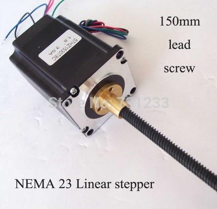 2pcs/lot 1.8 degrees NEMA 23 External Linear Stepper Motor 57 mm Frame 150 mm Length of the Screw Propeller Axial the three degrees the three degrees maybe 2 cd