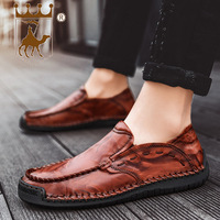 BACKCAMEL2019 Spring New Leather Men's Business Shoes Casual Set Foot Leather Head Rubber Bottom Wear resistant SIZE39 48