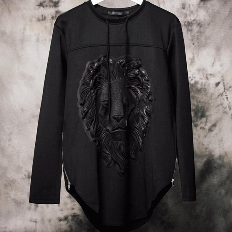 Shirt hoodie design - Hip Hop Neoprene Hoodies Brand Fashion Designer Lion Stars 3d Sweatshirt Men Casual Long Sleeve Side