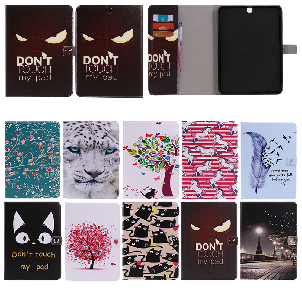 Fashion Classic personality Series Card Slot Pu leather stand Cover For Galaxy T815 Case For Samsung Galaxy Tab S2 9.7 SM-T810