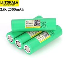 Liitokala INR18650 25R 18650 2500mAh 3.6V lityum şarj edilebilir pil 20A deşarj piller