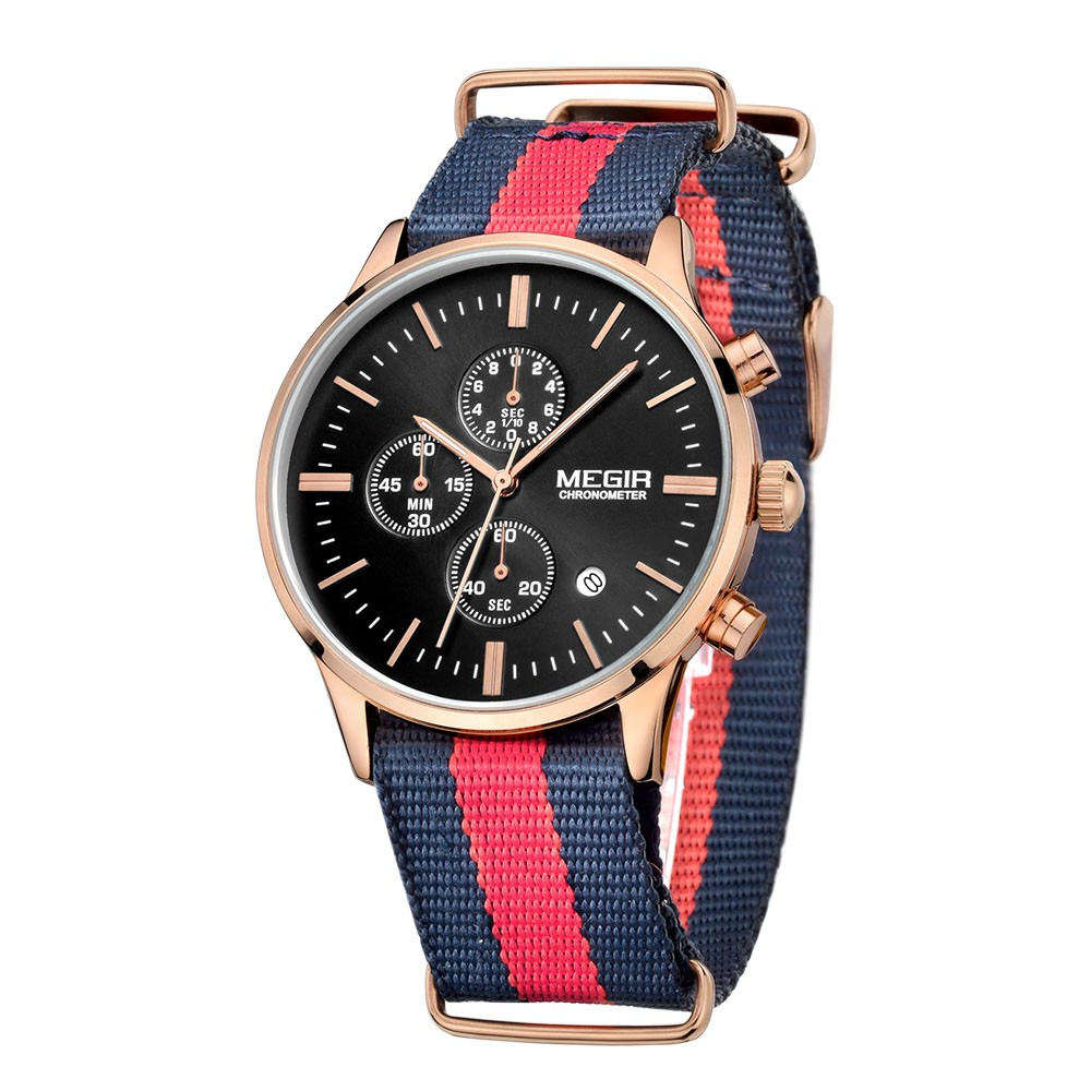 d2b6eee9f93 ⑤2  Megir Men Chronograph Watch Men Watch Top Luxury Clock Date ...