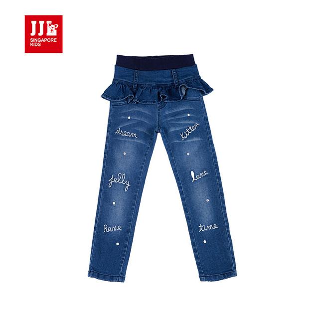 Muchachas de la marca de los pantalones vaqueros de invierno niños denim jeans para niños pantalones encuadre de cuerpo entero falda de las muchachas pantalones de los niños ropa de niños pantalones