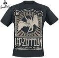 Moda T-shirt Camisa dos homens Led Zeppelin Madison Square Garden 1975 T-Shirt T-Shirt Ocasional preto