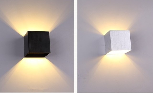 1 unids llev la l mpara de pared aplique de luz moderno for Luces de pared interior