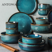 ANTOWALL European Household ceramic tableware set good looking dish plate bowl star light series Chinese dishware set