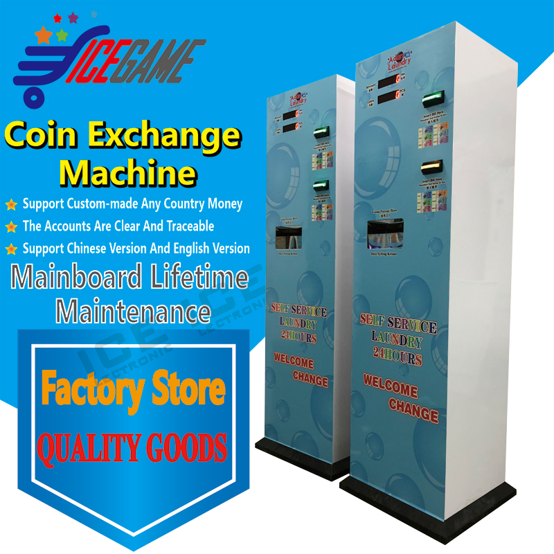 US $619 9 |Mlaysia double bill acceptor coin chenger machine laundry room  changer machine token changer-in Replacement Parts & Accessories from