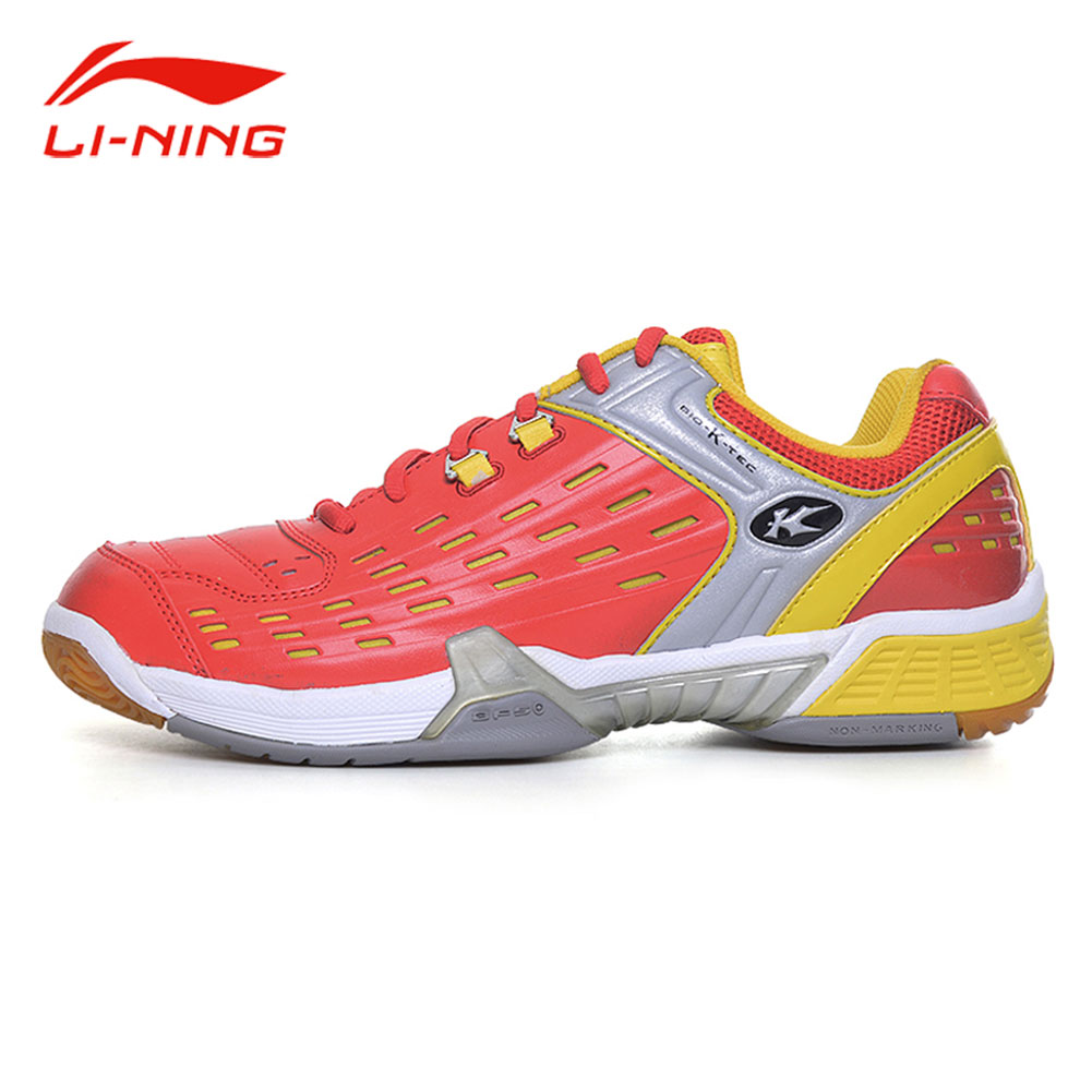 Li-Ning Kason Men Anti-Slip Badminton Training Shoes Cushion Wear-Resistance Sneakers LiNing Professional Sports Shoes FYZH009 peak sport speed eagle v men basketball shoes cushion 3 revolve tech sneakers breathable damping wear athletic boots eur 40 50
