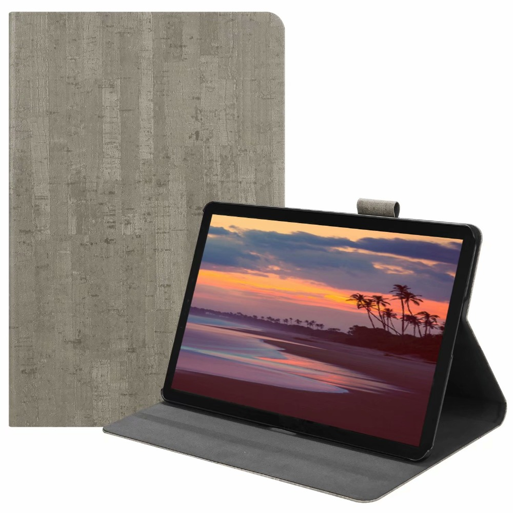 Magnetic Wood Leather Case For Samsung Galaxy Tab S4 10.5