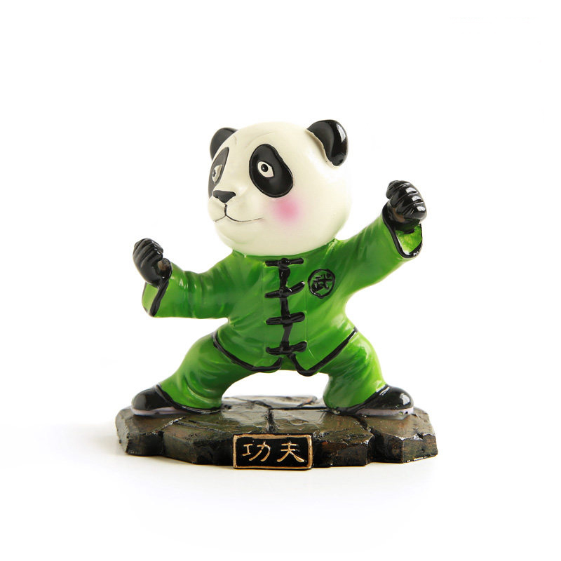 E FOUR Chinese Panda Doll Moto Decoration Ornament Car Home Office Resin Traditional Hand Work Art Cute Gift Automatic Accessory in Ornaments from Automobiles Motorcycles
