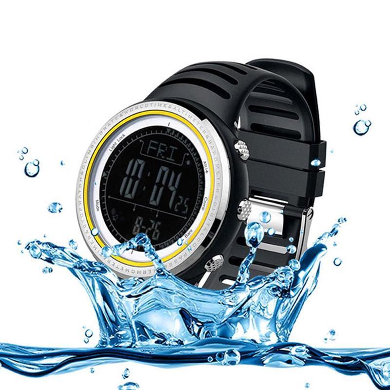 Men Digital Sports Watch Running Climbing Thermometer Weather Forecast Countdown Timer Stopwatch Watch Mens Clock цена