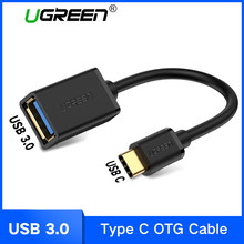 Ugreen USB C адаптер OTG кабель Тип C к USB 3,0 USB 2,0 Thunderbolt 3 OTG тип-c адаптер для samsung One Plus MacBook USBC OTG(China)