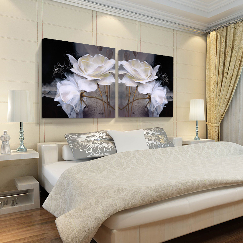 AtFipan 3d Lotus picture flower On modern paintings Canvas home art ...